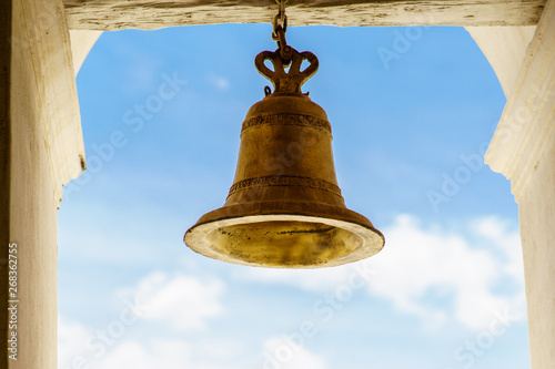 Fotografía Bronze bell from Leon Cathedral in Nicaragua to call catholic celebrations