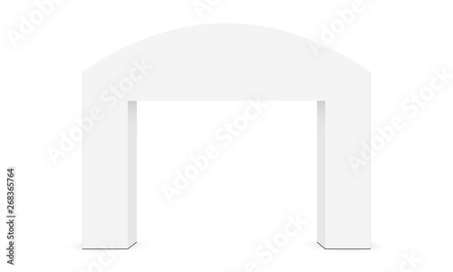 Fotografering Outdoor event arch mockup isolated on white background - front view