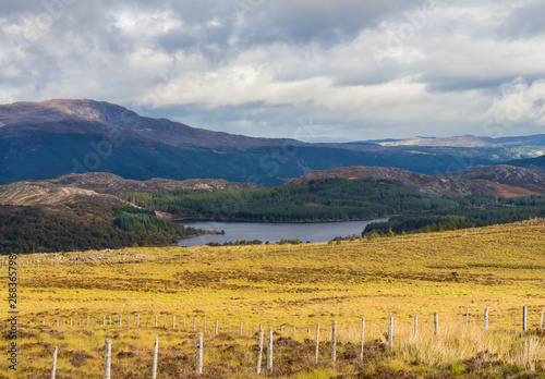 View on Great Glen or Glen More in the Scottish Highland near Loch Ness Wallpaper Mural
