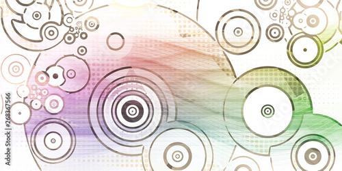 Foto op Plexiglas Stenen in het Zand Circle Dot Pattern