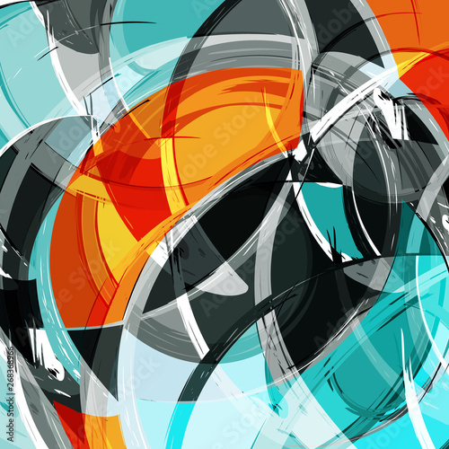 abstract color pattern in graffiti style quality illustration for your design Wallpaper Mural