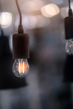 Old Vintage Style Light Bulb Creativity Ideas Concept