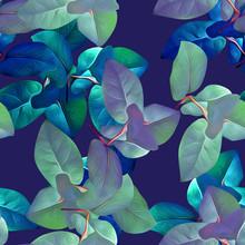 Leaves Seamless Pattern, Illustration Art.