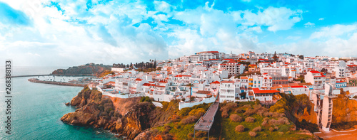 Poster de jardin Europe Méditérranéenne giant panorama about albufeira at portugal