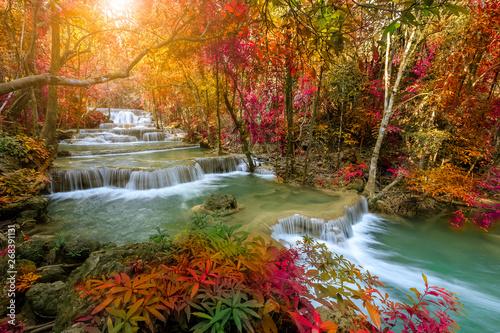 Huai Mae Khamin Waterfall tier 1, Khuean Srinagarindra National Park, Kanchanaburi, Thailand