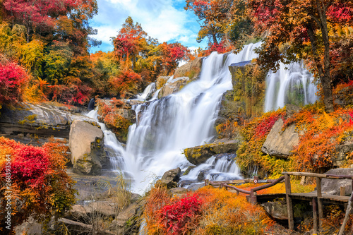 Fotografija Mae Klang Waterfall, Doi Inthanon National Park, Chiang Mai, Thailand