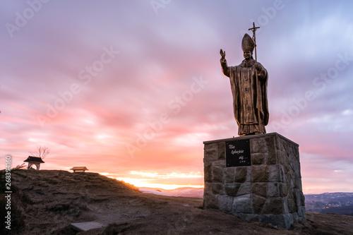 Photo Bronze statue of Pope John Paul II in Poland