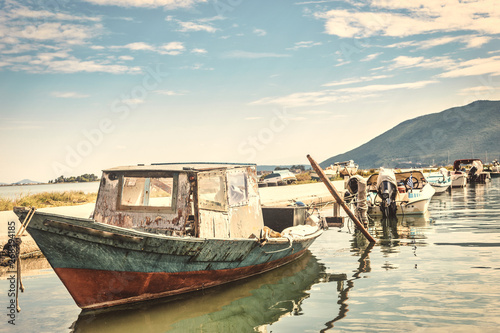 Canvas Prints Ship Old wooden fishing boat