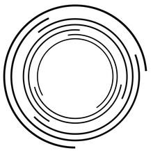 Concentric Circle. Circular Ra...