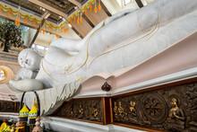 Thailand Biggest White Marble Nirvana Buddha At Wat Pa Phu Kon, Udon Thani Thailand