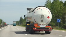Semi Truck With Propane Tank M...