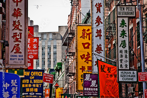 Fototapeta Dzielnica Chinatown na Manhattanie ścienna