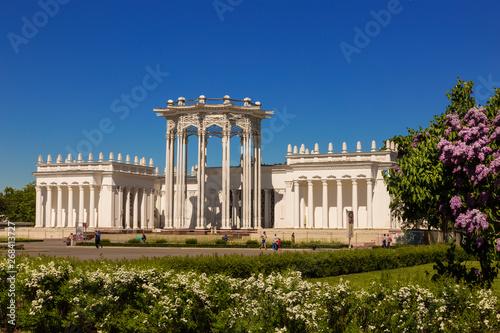 "Valokuva  Pavilion ""Soviet culture"" (former ""Uzbek SSR"") on the territory of the All-Russian exhibition center (VDNH)"