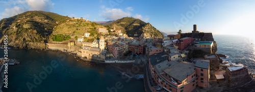 Fotobehang Liguria Aerial view Manarola ciqueterre italy