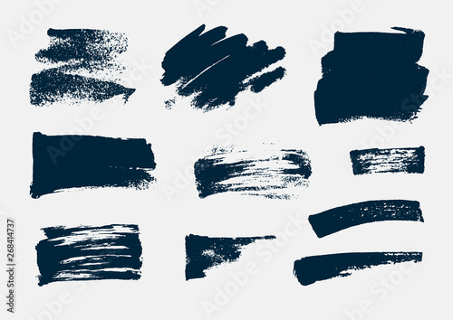 Tablou Canvas Monochrome abstract vector grunge textures