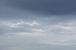 dramatic blue sky with white and gray clouds