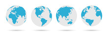 Globe Icon Set - Round World M...