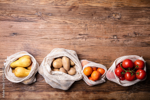 Vegetable And Fruits In Net Bag - 268421520