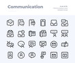 Phone and Communication Line Icons. Material design pixel perfect icon. Editable Stroke. 32x32 Pixel Perfect icon