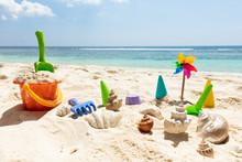 Pinwheel, Plastic Toys And Sea...