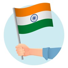 India Flag In Hand Icon