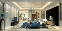 3d Render Neo Classical Living...