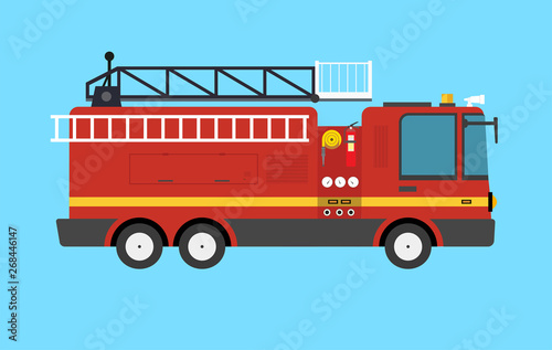 Fire Truck Wallpaper Mural