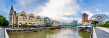 Panorama Of Clarke Quay, Singa...