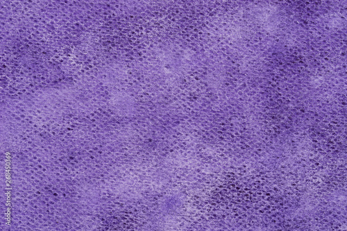 violet watercolor painted on paper  background texture macro