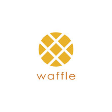 Abstract Minimalist Waffle Logo Icon Vector Template On White Background
