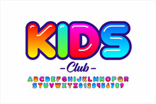 Colorful Kids Style Font, Alph...