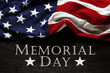 Old American flag background for Memorial Day