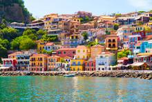 Parga City Greek Summer Tourist Resort Houses Colors
