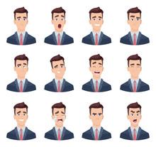 Businessman Emotions. Male Cha...