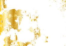 Gold Texture Messy Brush Stroke.