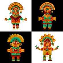 Inca Ceremonial Sculptures.