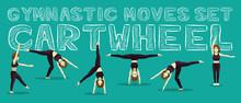 Gymnastic Moves Set Cartwheel ...