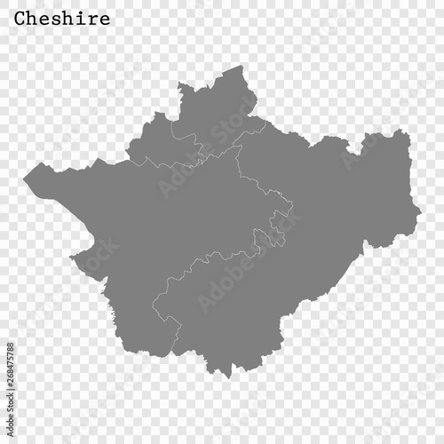 High Quality map is a county of England Fototapet