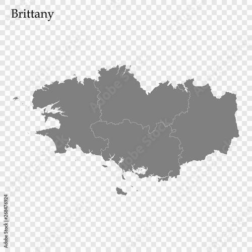 Obraz na płótnie High Quality map region of France