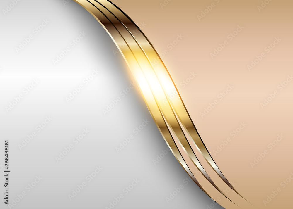 Business elegant background, shiny gold metallic with beige elements.