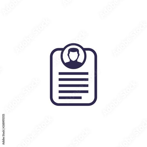 Fotografie, Obraz  account info, profile, personal data icon