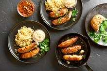 Grilled Sausages With Sauerkra...