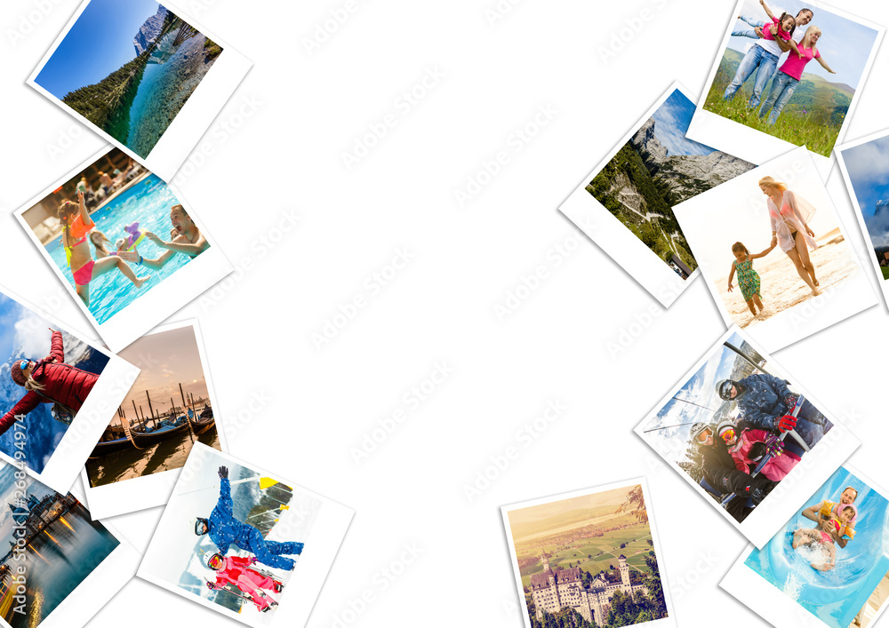Fototapety, obrazy: Collage from photos of venice, Italy , isolated on white background