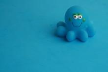 Child Toy For Blue Octopus Bathtub