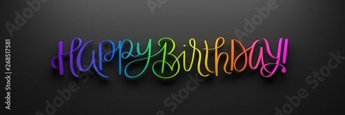 HAPPY BIRTHDAY! 3D render o...