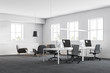 White office workplace with lounge