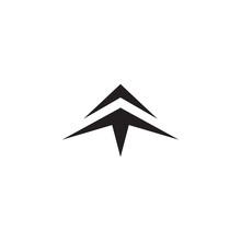 Arrow Head Logo Design Vector Template