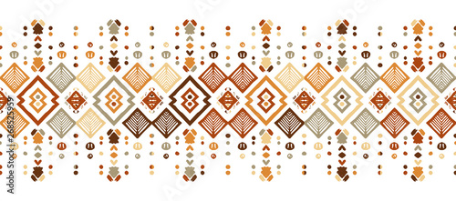 Tuinposter Boho Stijl Ikat seamless pattern. Tribal art print. Chevron