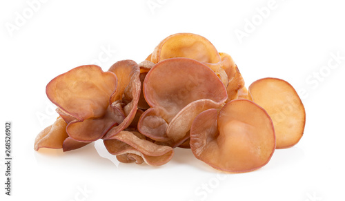 Photo Jew's ear, Wood ear, Jelly ear isolated on white background