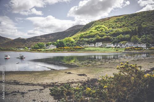 Beach in Lochranza, Isle of Arran, Scotland. Wallpaper Mural